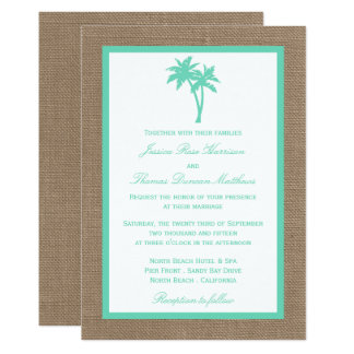 Palm Tree Wedding Invitations & Announcements | Zazzle