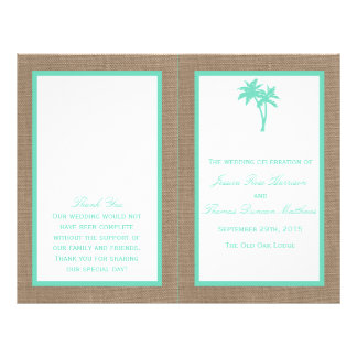 The Tropical Palm Tree Beach Wedding Collection Flyer