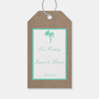 The Tropical Palm Tree Beach Wedding Collection Gift Tags