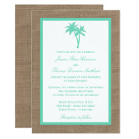 The Tropical Palm Tree Beach Wedding Collection Invitation