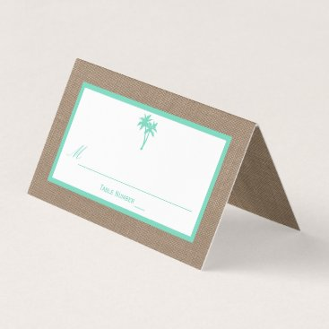 Beach Themed The Tropical Palm Tree Beach Wedding Collection Place Card