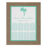 The Tropical Palm Tree Beach Wedding Collection Poster