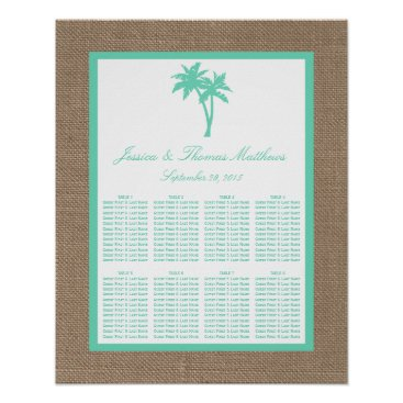 Beach Themed The Tropical Palm Tree Beach Wedding Collection Poster