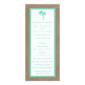 The Tropical Palm Tree Beach Wedding Collection Rack Card