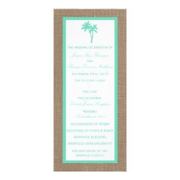 Beach Themed The Tropical Palm Tree Beach Wedding Collection Rack Card
