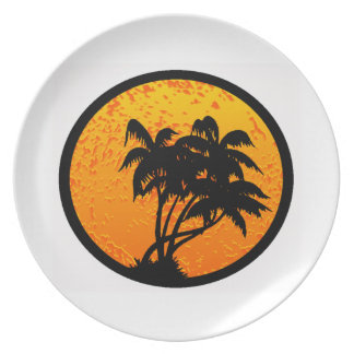 THE TROPICAL SUNRISE PLATE