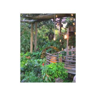 The Tropics at Dusk Tree House Canvas Print