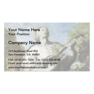 The Troubadour by Honore Daumier Business Card Template
