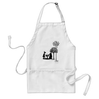 The trouble with bears adult apron