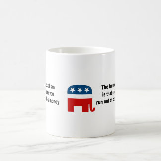 The trouble with socialism is coffee mug