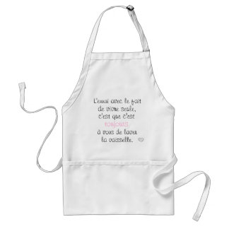 The trouble with the fact of living only. adult apron