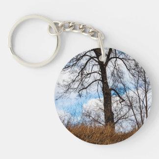 the troubled tree Single-Sided round acrylic keychain