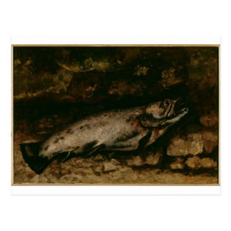 The Trout by Gustave Courbet Postcard