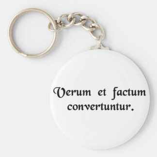 The true and the made are interchangeable. keychain