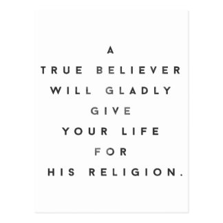 The True Believer Postcard