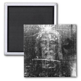 The True Face of Jesus 2 Inch Square Magnet
