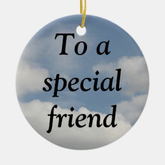 The True Meaning of Friendship (1 Corinthians 13) Double-Sided Ceramic Round Christmas Ornament