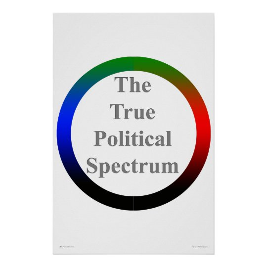 The True Political Spectrum Poster