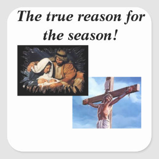 The true reason for the season sticker.