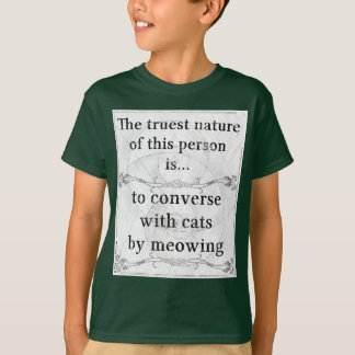 The truest nature: converse cats meow talk T-Shirt