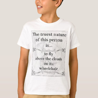 The truest nature: fly clouds wheelchair T-Shirt