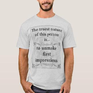 first impression t shirts shirt designs zazzle. Black Bedroom Furniture Sets. Home Design Ideas