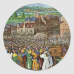 The Trumpets Of Jericho By Fouquet Jean (Best Qual Round Sticker