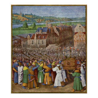 The Trumpets of Jericho by Jean Fouquet Poster