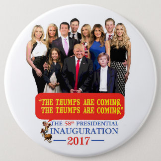 The Trumps Are Coming! Button