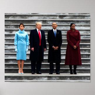 The Trumps & Obamas At Inauguration Poster