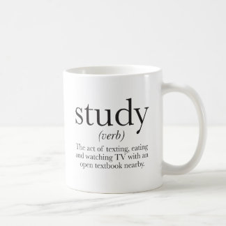 The truth about studying classic white coffee mug