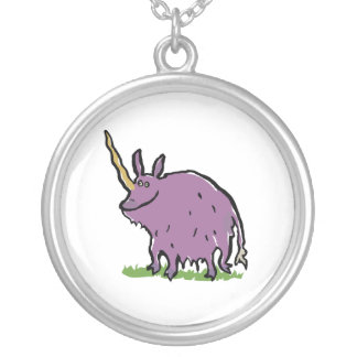 the truth about unicorns round pendant necklace