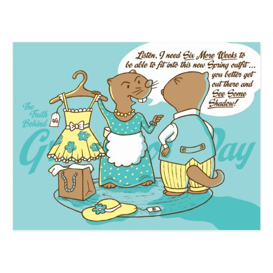 The Truth Behind Groundhog Day Postcard CUSTOMIZE