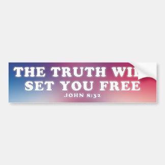 The Truth Car Bumper Sticker