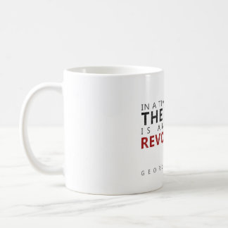the truth is an act of revolution coffee mug