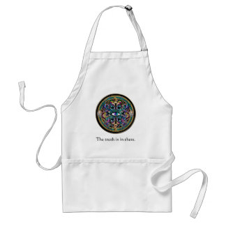 The Truth is in There ~ Eyes of the World Mandala Adult Apron