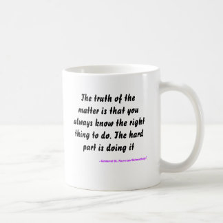 The truth of the matter is that you always know... coffee mug