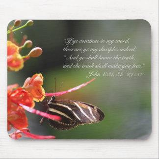 The Truth Shall Set you Free Mousepad (Poinciana)