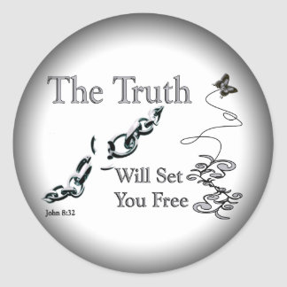 The Truth Will Set You Free Classic Round Sticker