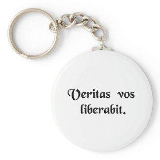 The truth will set you free. keychain