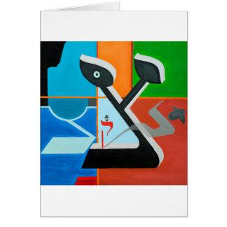 The Tsadi Letter - Hebrew alphabet Greeting Card