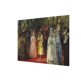 The Tsar choosing a Bride, c.1886 Canvas Print