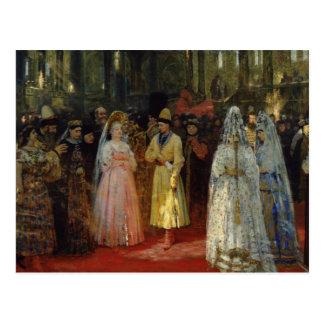 The Tsar choosing a Bride, c.1886 Postcard