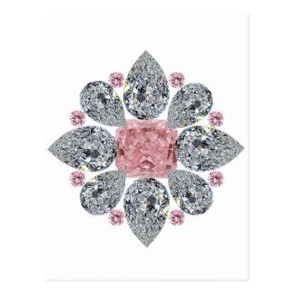 The Tudor Rose Pink Diamond Postcard