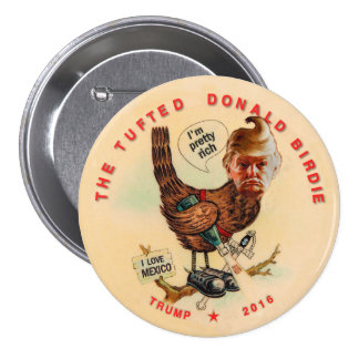 The Tufted Donald Birdie 3 Inch Round Button