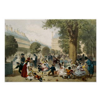 The Tuileries, 1856 Poster