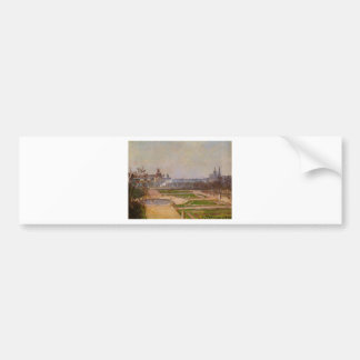 The Tuileries and the Louvre by Camille Pissarro Bumper Sticker