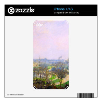 The Tuileries Garden by Camille Pissarro Decals For The iPhone 4