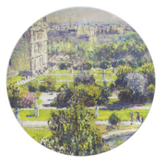 The Tuileries study  Claude Monet Melamine Plate