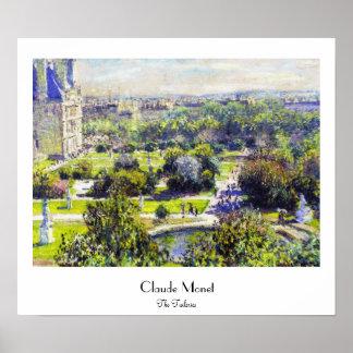 The Tuileries study  Claude Monet Poster